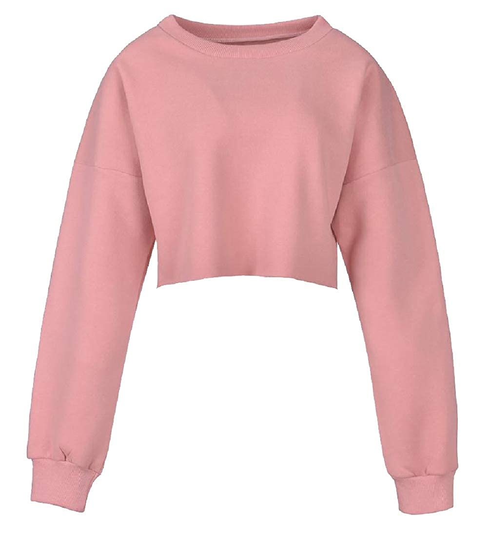 YUNY Women Loose-Fit Velvet Lined Tracksuit Top Pink XS