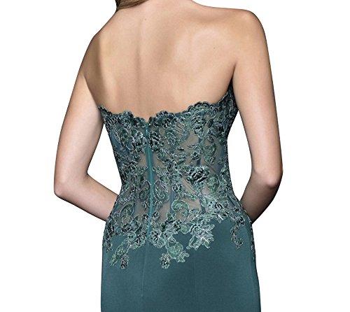 La_mia Braut Navy Blau Spitze Langes Abendkleider Brautmutterkleider Festlichkleider Abschlussballkleider Figurbetont Jaeger Gruen JqjBbG2
