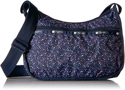 Lesportsac Deluxe Shoulder Satchel (LeSportsac Classic Hobo Handbag, Ditsy Dance Party)