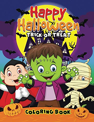Happy Halloween Coloring Book: Easy and Fun Activity Book for Kids]()