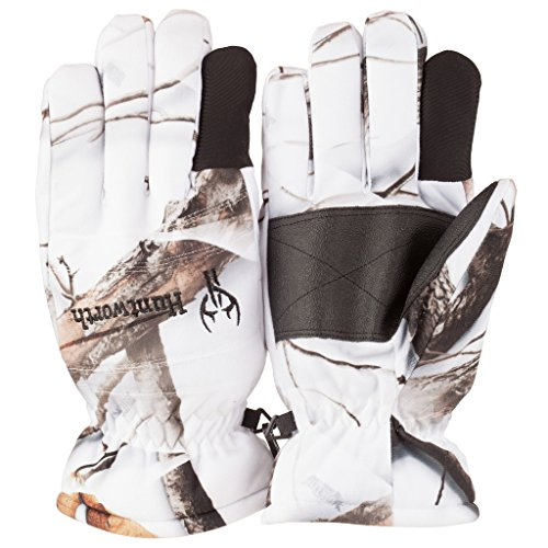 Camouflage Thinsulate Hunting Gloves (Huntworth Men's Waterproof Classic Hunting Gloves, Snow, Medium)