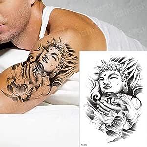3Pcs-Tattoo Sticker Hand Mandala Tattoo Black Sketch Tattoo ...