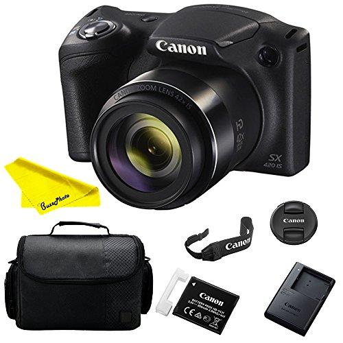 Canon Powershot SX420 is Digital Camera (Black) + Buzz Novice Bundle Kit