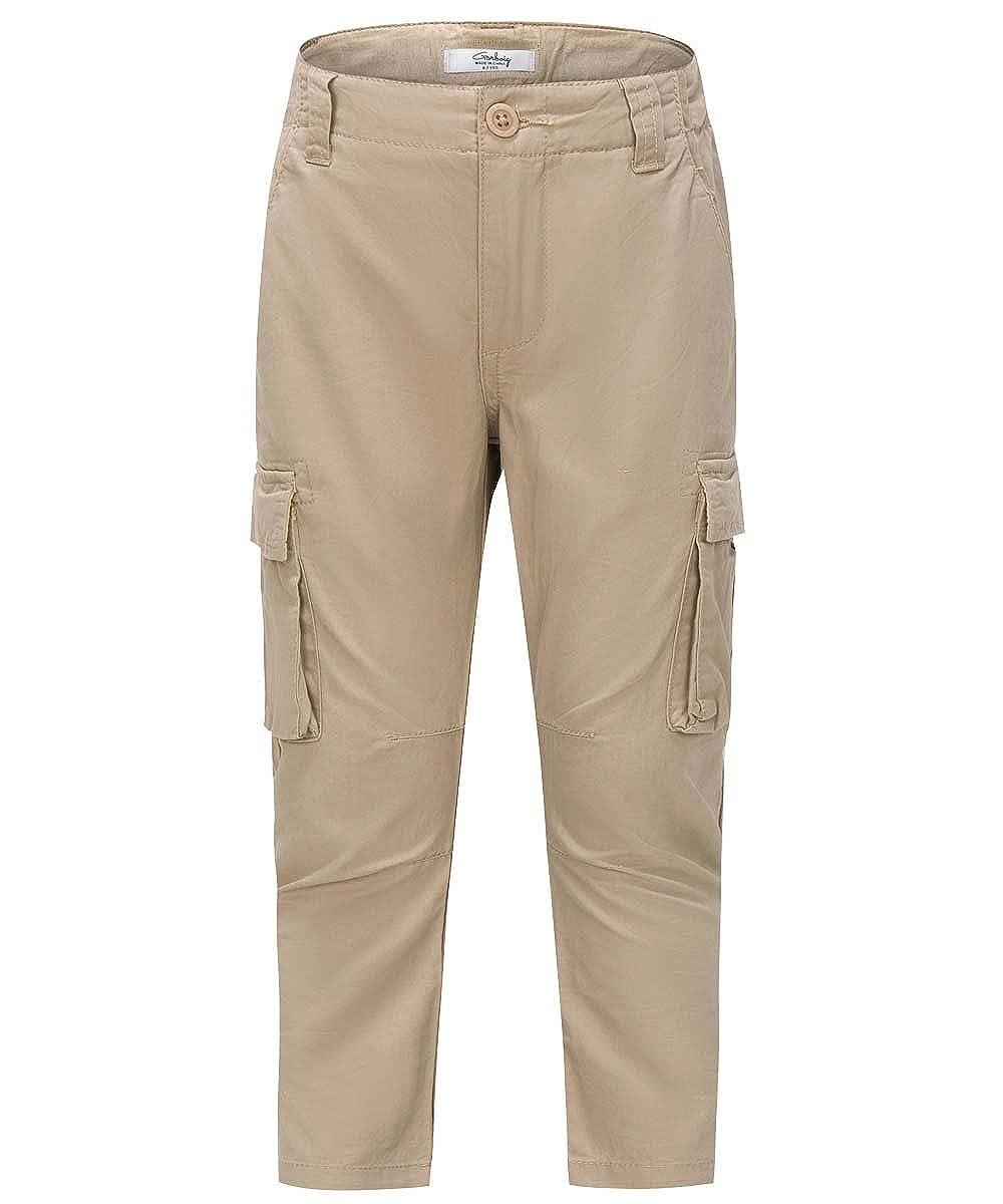 Gorboig Kids Spring Cotton Green Pants Boys Casual Trousers BU-KAMI-H6GP