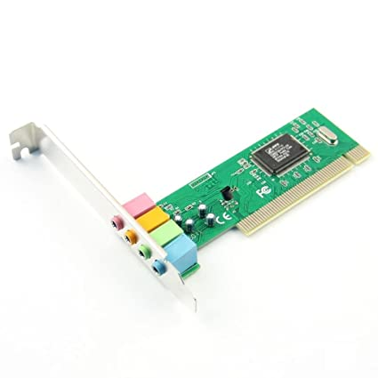 Tarjeta de sonido PCI ulable ht8738. CMI8738 Tarjeta de sonido Surround tarjeta de sonido PCI 4 canales computadoras tabletas Cable de (con CD)