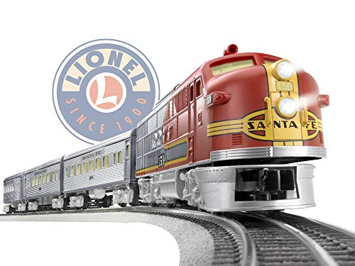 Lionel Santa Fe Super Chief Electric O Gauge Model Train Set w/ Remote and Bluetooth Capability ()