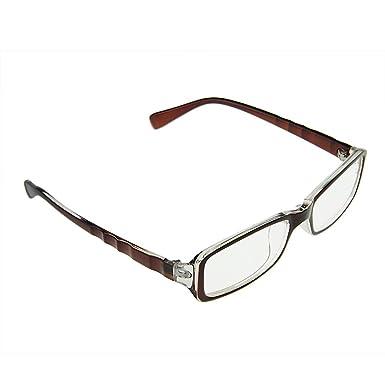 19ecdecf96fe Unisex Rectangular Plain Glasses Women Men Reading Glasses Classical Plastic  Wave Full Frame Eyeglasses Clear Lens Anti Radiation Nerd Eyekepper  Computer ...
