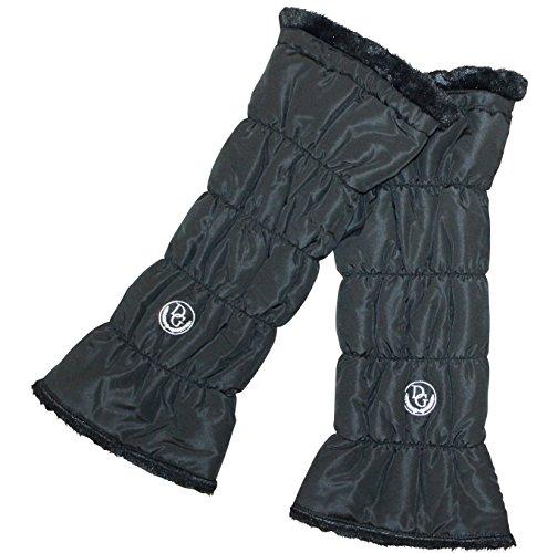 あったかレッグウオーマ (ポーチ付) ブラック デルソル ゴルフウェア レディース ボア付 ブラック 特暖