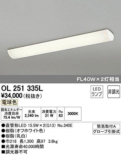 ODELIC(オーデリック) 【工事必要】 LEDキッチンライト 【FL40Wx2灯クラス】 OL251335L B00L326GEI