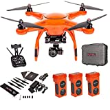 Autel Robotics X-Star Premium Drone with 4K Camera, 1.2-Mile HD Live View &Manufacturer Accessories (Orange) +extra 2x Autel Robotics Battery (Li-Po with 4900mAh, 14.8V)