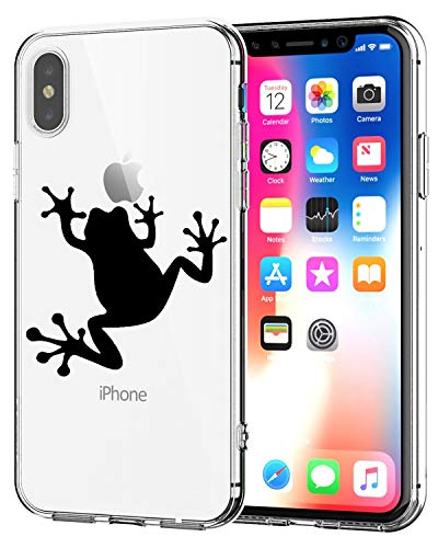 Matop Fit iPhone XR Case, Clear Ultra Thin Design Soft TPU Shockproof Protective Slim Bumper Shock Absorption Pattern Shell Cover Frog Compatible with iPhone XR (Frog)