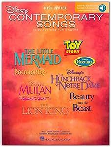 Disney Contemporary Songs For High Voice. Partituras, CD para Voz Alta, Acompañamiento de Piano