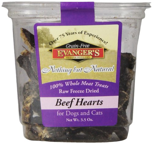 Evanger'S 776361 Nothing But Natural 100-Percent Beef Heart Food Treat For Dog/Cat Treat, 3.5-Ounce