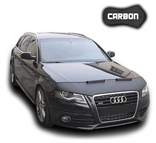 Hood Bra for Audi A4 B8 A5 8T CARBON Bonnet Car Bra Front End Cover Nose Mask Stoneguard Protector TUNING