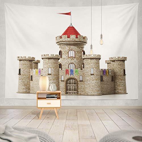 KJONG Fantastic Medieval Castle Blue Sky Castle Tower