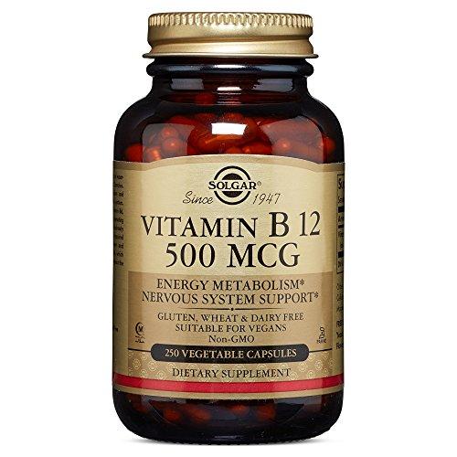 Solgar - Vitamin B12 500 mcg Vegetable Capsules  250 Count
