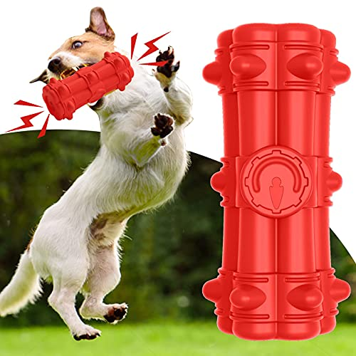 Dog Chew Toys for Aggressive Chewers Large Breed, Dog Squeaky Toys-100% Natural Rubber, Indestructible Durable Dog Toys, Dog Teeth Cleaning Toys for Medium Large Dogs, Interactive Dog Toys-Milk Flavor