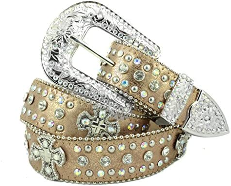 [해외]Deal Fashionista CROSS Concho Western Rhinestone Bling Studded Removable Buckle Belt / Deal Fashionista CROSS Concho Western Rhinestone Bling Studded Removable Buckle Belt