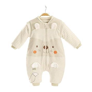 CWLLWC Saco de Dormir para bebé,Mangas Desmontables de otoño e Invierno de Hombre y Mujer bebé Anti-Kick edredón 1-3 años Pijama del Mameluco: Amazon.es: ...