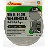 vinyl insulation - Frost King Vinyl Foam Tape - Closed Cell - Moderate Compression, 1/2 W