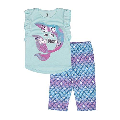 Petit Lem Girls Little 2-Piece Pajama Set, Comfortable, Cute and Cozy Softness