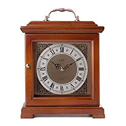 LNC Vintage Clock, Wood Pendulum Mantel Clock
