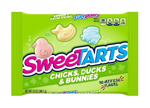 Wonka, SweeTarts Chicks Ducks and Bunnies, 12oz Bag (Pack of 4) by Wonka