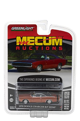 1970 Dodge Charger R/T HEMI Dark Burnt Orange Mecum Auctions Collector Series 1 1/64 by Greenlight 37110 C