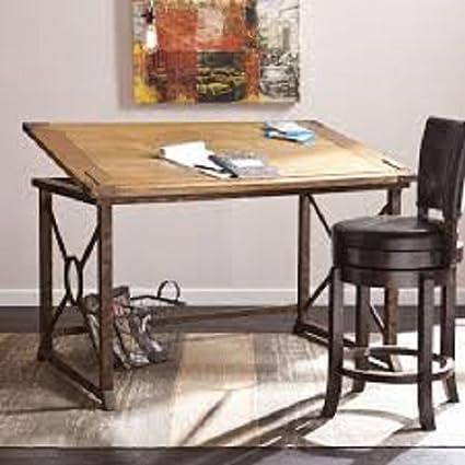 Attirant Tilt Top Drafting Table Desk Workstation For Home And Office