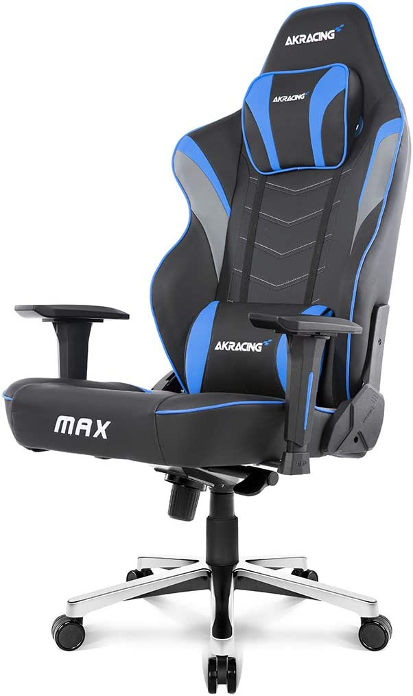 AKRacing Masters Series Max Gaming Chair with Wide Flat Seat, 400 Lbs Weight Limit, Rocker and Seat Height Adjustment Mechanisms with 5 10 Warranty