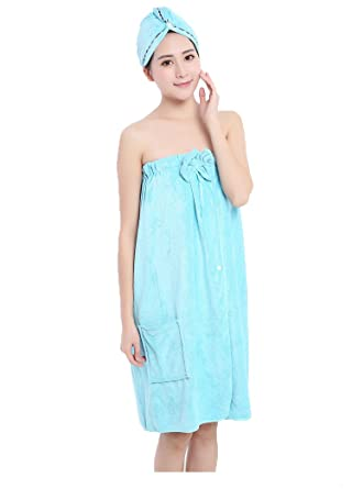 f14cf46654 Bowknot Towel Wrap Tube Dress Soft Wearable Beach Spa Shower Bath Cover Up  Wrap Around Towel