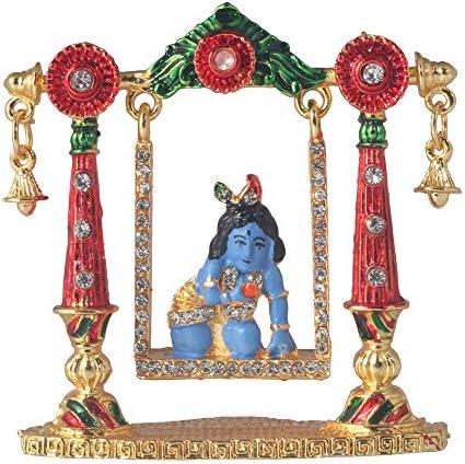 Buy Divine Gifts Krishna On Jhula Idols Statues For Home Decor