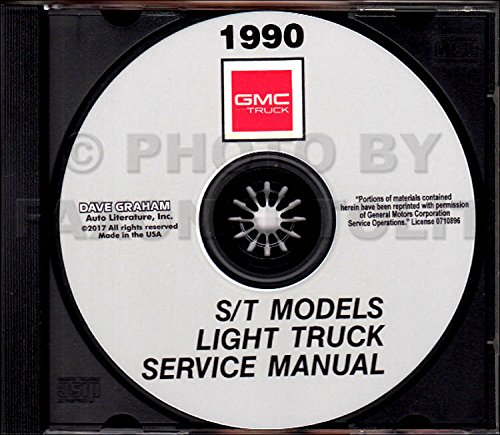 1990 GMC S & T Models TRUCK And PICKUP FACTORY REPAIR SHOP & SERVICE MANUAL CD - INCLUDES Base, High Sierra, Sierra Classic, S15 Jimmy