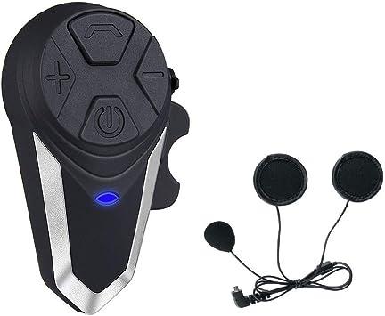 Freedconn T-MAX Auricular Casco Moto para 6 Riders Grupo de comunicaci/ón Casco Auricular Bluetooth para Moto esqu/í Gama 1000 m, Impermeable, Radio FM