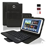KHOMO ® Black PU Leather Cover Case with Removable Bluetooth Keyboard for Samsung Galaxy Note 8.0