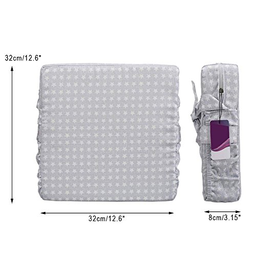 ZL Magic Kids Chair Booster Pad Dismountable Kids Dining Seats Booster Comfortable Cushion Baby Children High Chair Pad (Grey) by ZL Magic (Image #4)