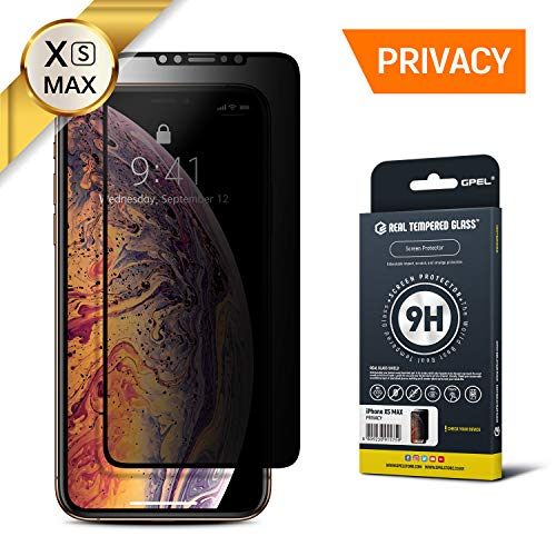 GPEL Privacy Screen Protector for iPhone Xs Max Premium Japanese Asahi Real Tempered Glass [Privacy Anti Spy] Case-Friendly Work with Most Case HD Clarity 9H Hardness 99% Touch Accurate