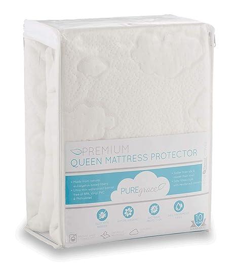 Amazon.com: PUREgrace Protector de colchón fabricado con ...