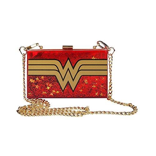 Glitter Bag Woman Comics DC Wonder Cross Body YOtYAw