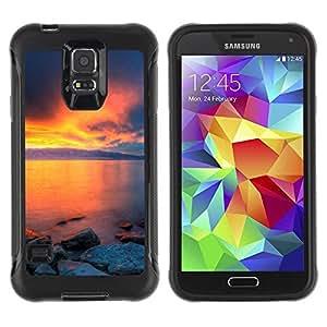 "Hypernova Defender Series TPU protection Cas Case Coque pour Samsung Galaxy S5 V [Sunset Beautiful Nature 36""]"