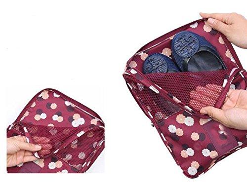 1PC Fashion Travel Portable Shoe Bags Multicolor Storage Organizer Bag for Men Women (Purple) by erioctry (Image #5)