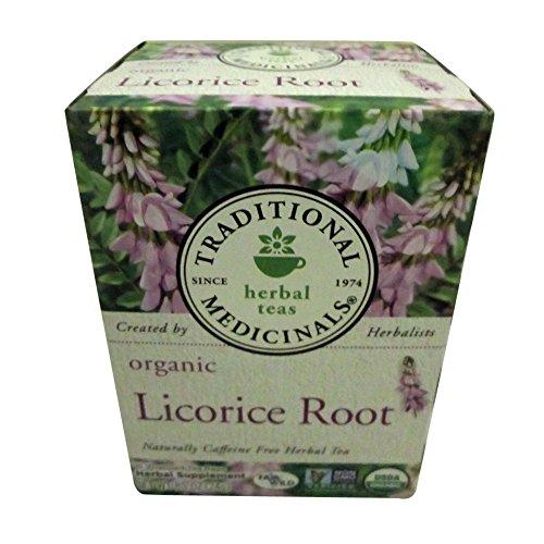 Traditional Medicinals Organic Licorice Root Tea, 16 Tea Bags (Pack of 2)
