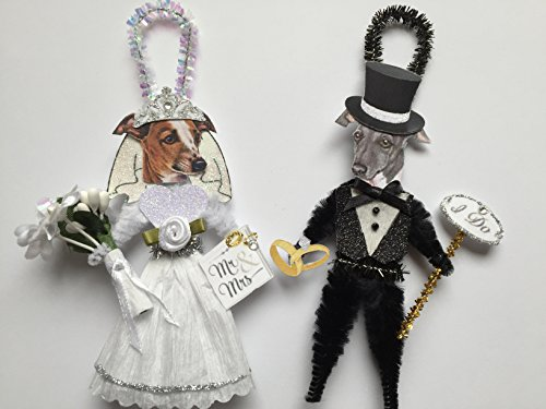 italian-greyhound-bride-groom-wedding-ornaments-vintage-style-chenille-ornaments-set-of-2