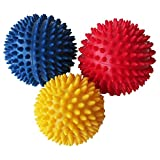 GZQ 3 Pcs Massage Ball Trigger Point Spiky Massage Ball Stress Muscle Release for Crossfit and Yoga