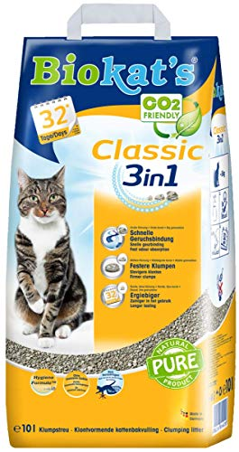 Biokat's Classic 3in1 ohne Duft – Klumpende Katzenstreu mit 3 unterschiedlichen Korngrößen – 1 Sack