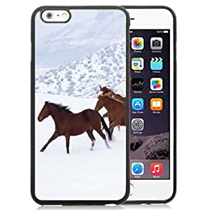 New Fashionable Designed For iPhone 6 Plus 5.5 Inch Phone Case With Horses running in the snow Phone Case Cover