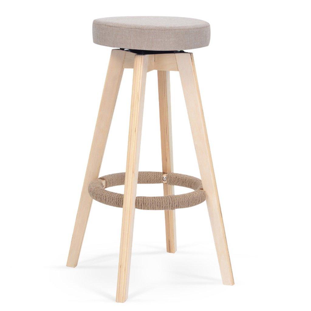 スツールヨーロッパスタイルのバーの椅子ソリッドウッドのバーの椅子背もたれの高いスツールホーム回転バーの椅子ファッションシンプルなバーのスツール (色 : A) B07DB7CTLC A A