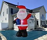 10 Foot Inflatable Portable Santa Claus Blow Up Indoor and Outdoor Lawn Yard Home Decoration Hold Box