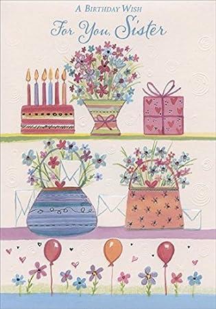 Amazon cake flowers gift purses and balloons sister cake flowers gift purses and balloons sister designer greetings birthday card bookmarktalkfo Gallery