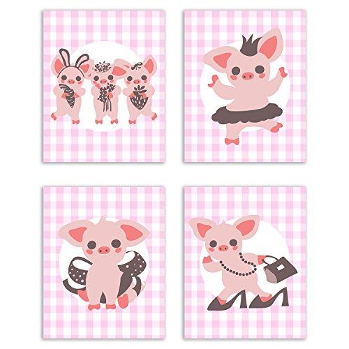 Adorable Country Style Pig Prints Set Buy Online In El Salvador At Desertcart